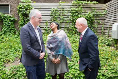 Prof Paul Conway, Dept of Education and Professional Studies, UL, Prof Vivian Gadsden, University of Pennsylvania and Prof Jim Deegan, Head of Graduate School, MIC.