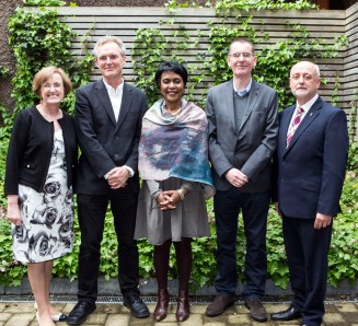 At IRMSS 2017: Prof Teresa O'Doherty, Dean of Education, MIC, Dr Ger Downes, MIC, Prof Vivian Gadsden, University of Pennsylvania, Dr Tom Morton, Birkbeck College, University of London and Prof Jim Deegan, Head of Graduate School, MIC